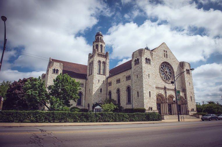 Street view of St. Rita of Cascia Parish as it looks today