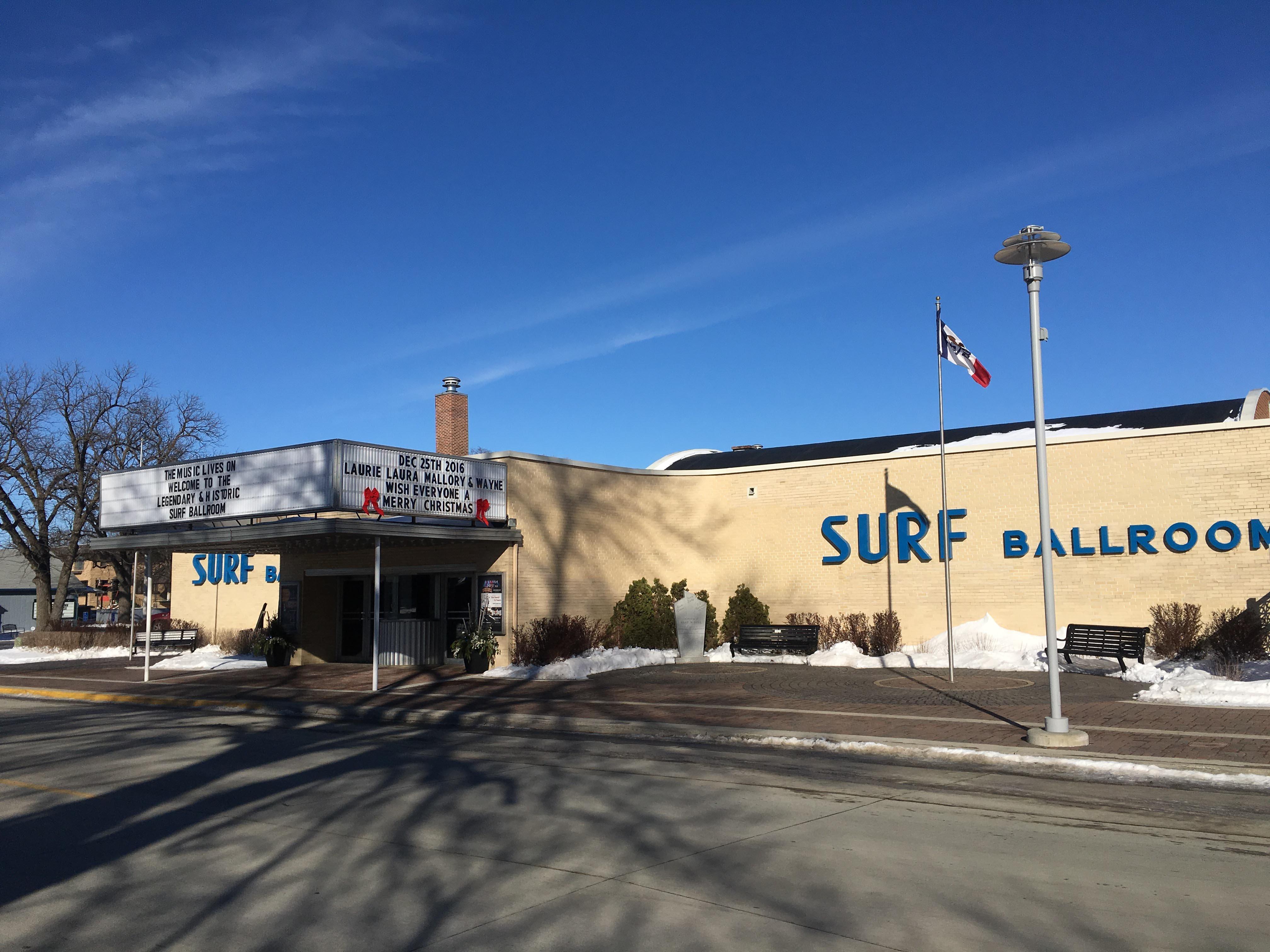 Surf Ballroom, exterior facade.
