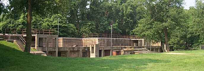 Remains of Fort Hunt's seacoast battery. In World War II, US Soldiers at Fort Hunt was the site of a Top Secret intel program