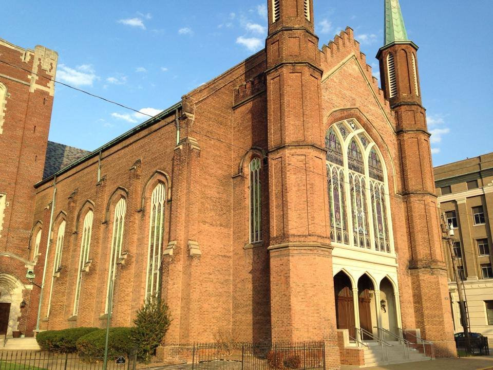 Trinity United Methodist Church was erected in 1866 and is one of the few buildings still owned by the original organization.