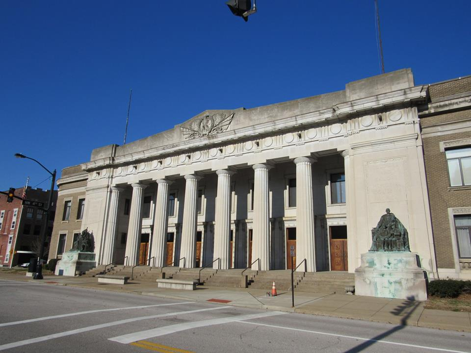 Evansville's Veterans Memorial Coliseum was built in 1917 and is listed on the National Register of Historic Places.