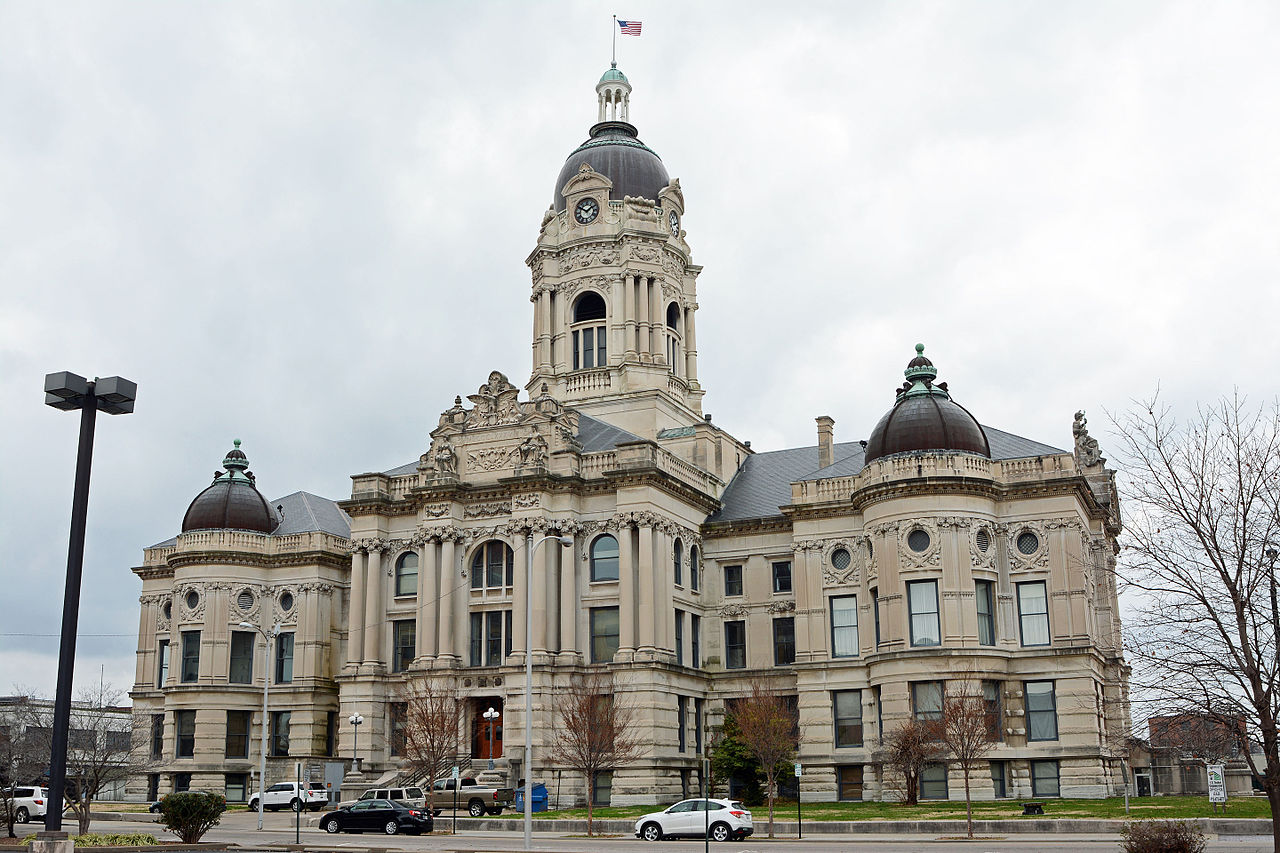 Built in 1891, the Old Vanderburgh County Courthouse is one one of Evansville's most prominent landmarks.