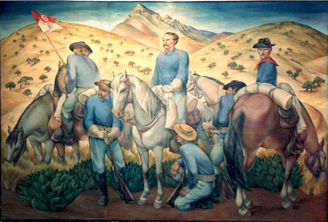 On 3 March 1877, Captain Samuel Marmaduke Whitside led two companies of the 6th Cavalry and chose a site at the base of the Huachuca Mountains.
