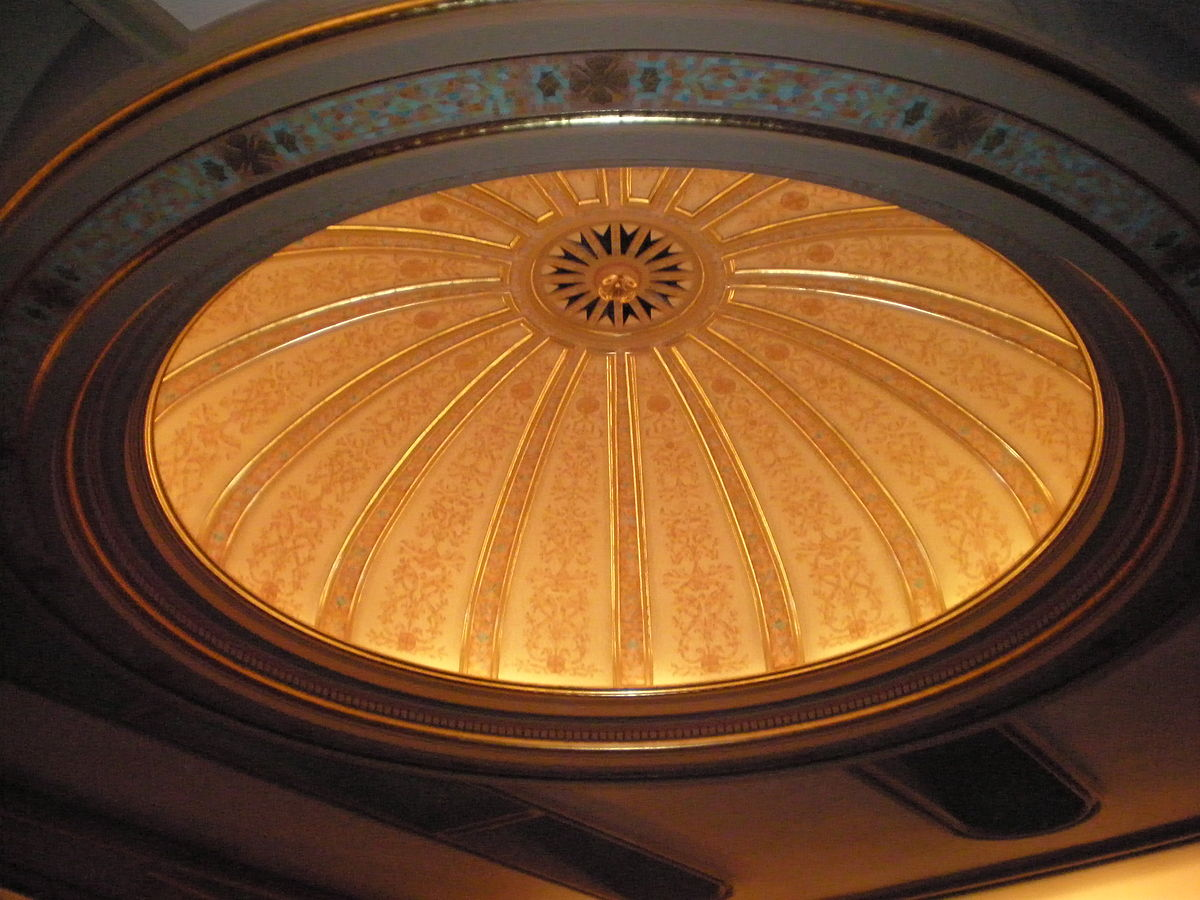 Ceiling dome found inside the Hawaii Theater