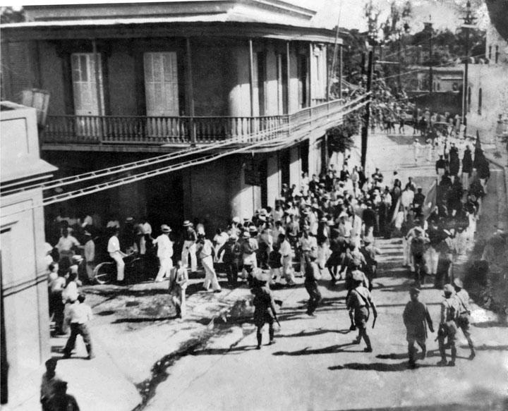 This image demonstrates how violent and cruel the march was on March 21, 1937.