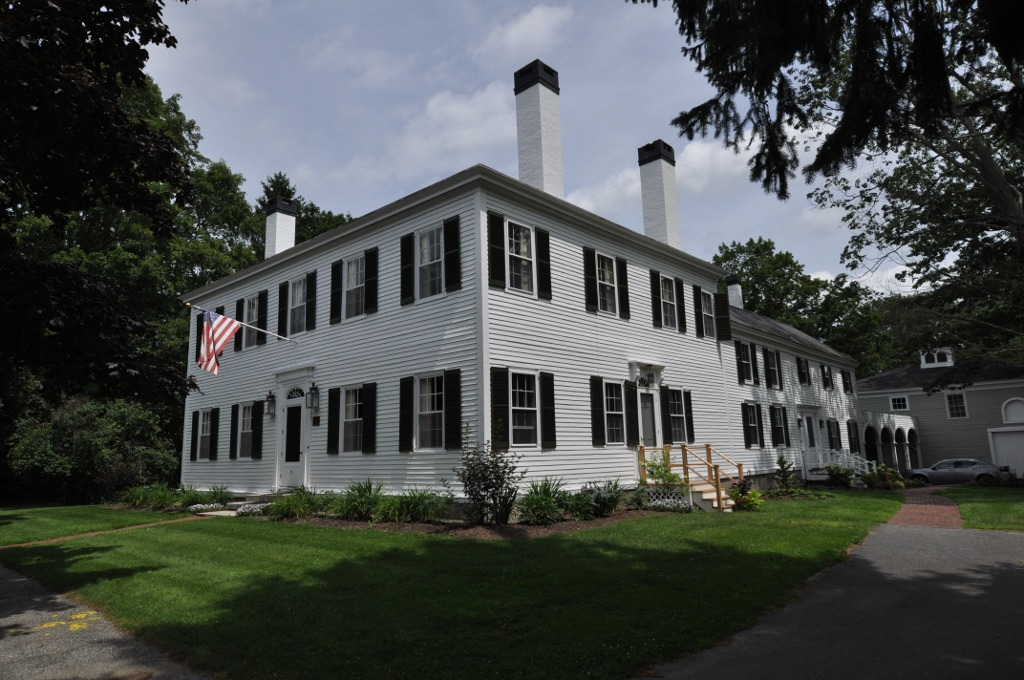 Built in 1806, the Parker Cleaveland House is now owned by Bowdoin College.