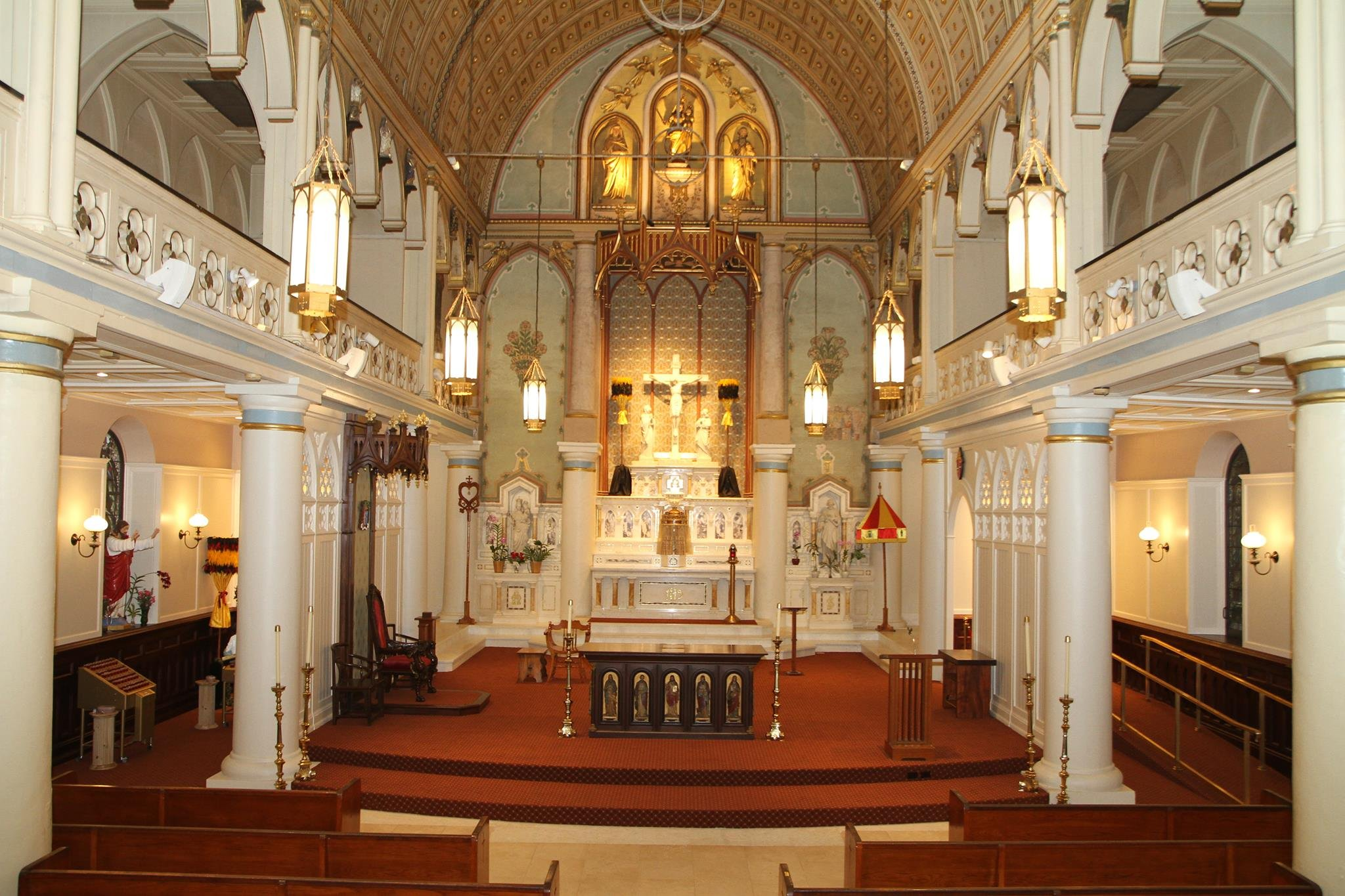Interior of the Cathedral Basilica of Our Lady of Peace