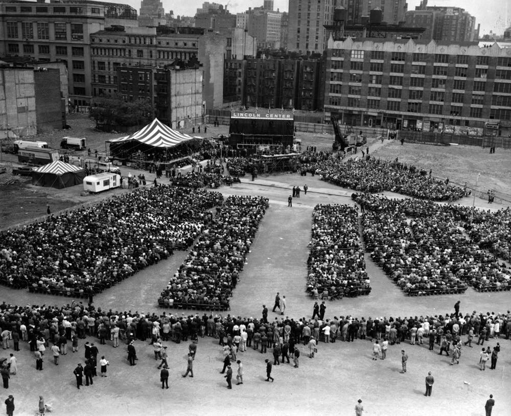 President Dwight Eisenhower Breaking Ground for Lincoln Center, 1959