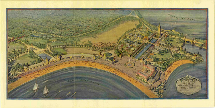 Walker and Gillette's Rendering of Playland Park (1927).