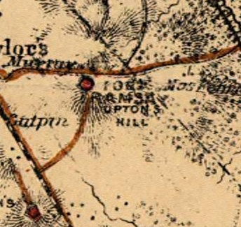 Fort Ramsay at Upton's Hill on an 1865 US War Department map of Washington, D.C.