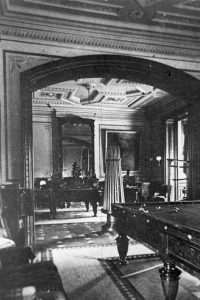 A historical photo of the Billiards Room