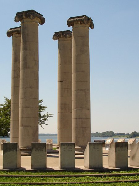 The Four Freedoms Monument was erected in 1976.