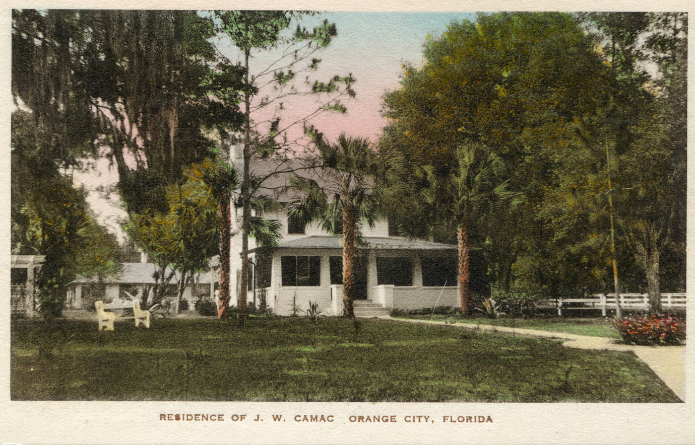 """Residence of J.W. Camac Orange City, Florida"""