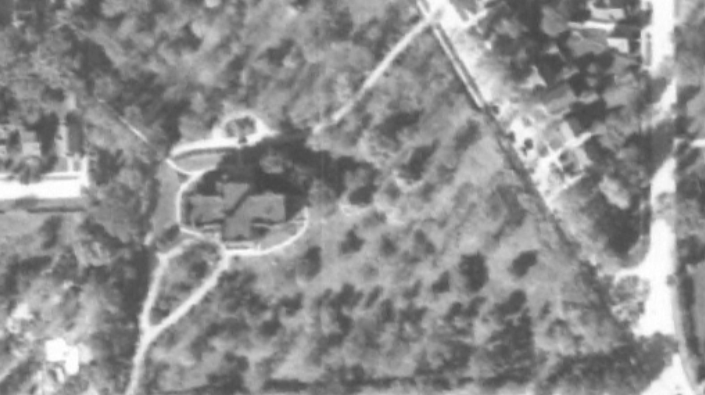 Caples Sanitarium 1941 Aerial Photo