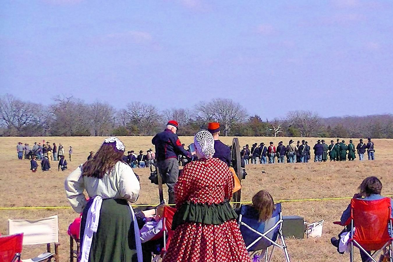 Picture of the Battle Re-enactment in Yale, Oklahoma.