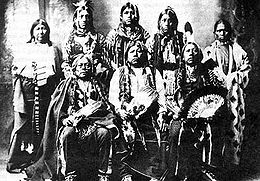 a few of the survivors pf the Tonkawa Massacre with their children in 1898.