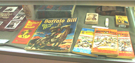 An example of Buffalo Bill media displayed at the museum.