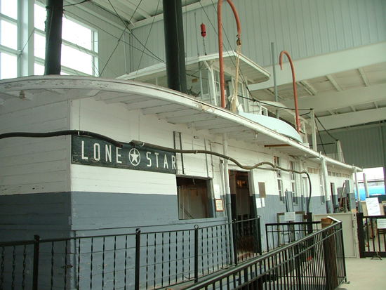 The Lone Star on display at the Buffalo Bill Museum.