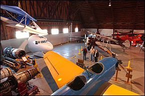 The museum is located in the hangar at Drake Field