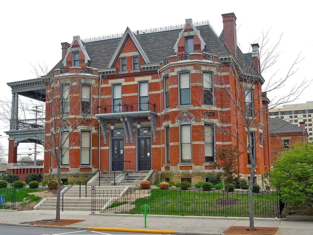 The McCulloch-Weatherhogg Double House is one of the more striking buildings in Fort Wayne. It was built in 1881 and is today the home of the United Way of Allen County.