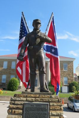 This statue by sculptor Branko Medenica was commissioned in 1986 and shares the unique history of Winston County in the Civil War
