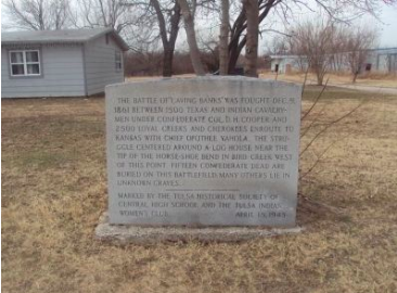 Image of the Historical Marker of the Battle of Chusto-Talasah. The image is from The Historical Marker Database