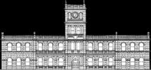 Scale sketch of the façade of Ali'iolani Hale
