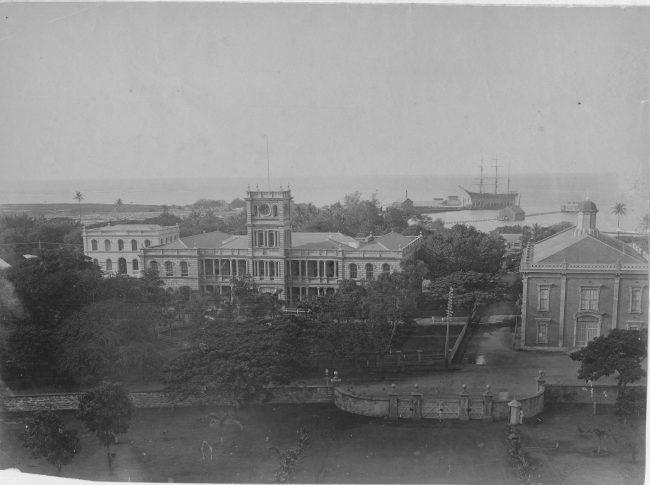 Photo of Ali'iolani Hale from 'Iolani Palace, 1888