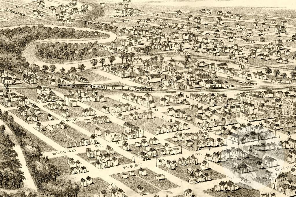 Guthrie in 1890, a year after the 1889 Land Rush