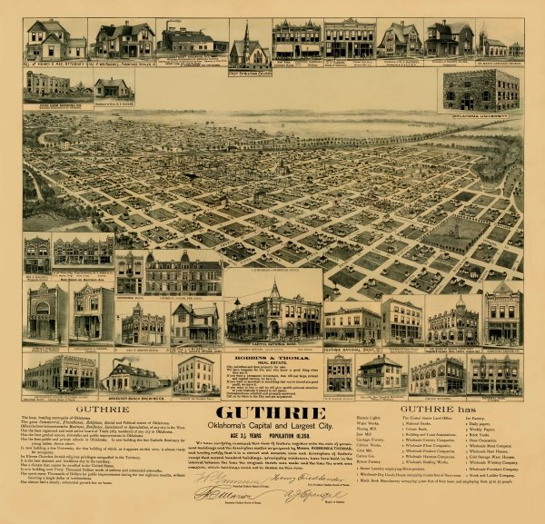 A map of Guthrie, 1891