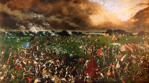 """The Battle of San Jacinto"" Painted by Henry McArdle (1895) 1