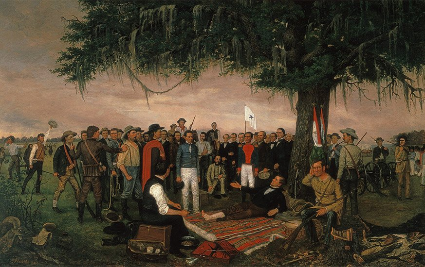 """The Surrender of Santa Anna"" painted by William Henry Huddle. 7