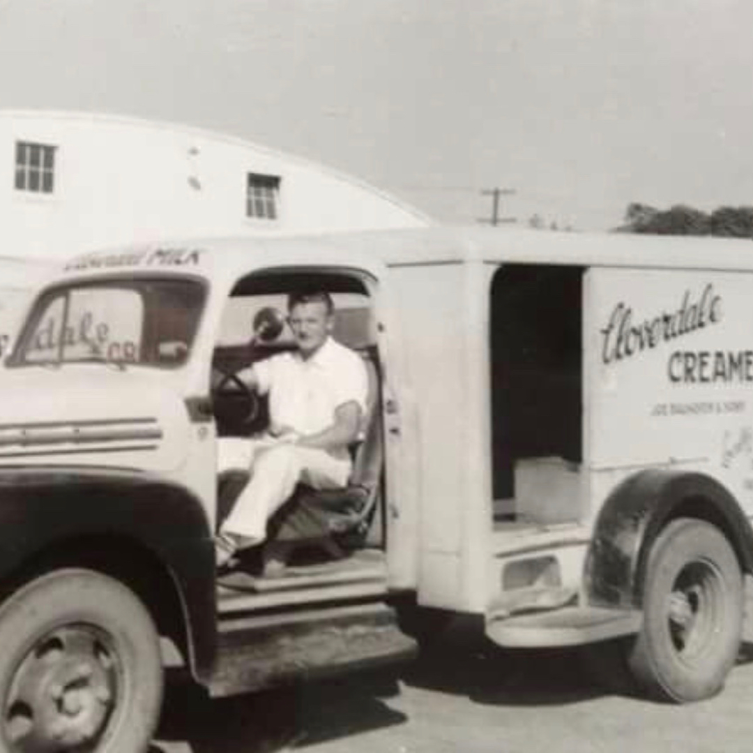 A Cloverdale Creamery delivery truck (courtesy of Instagram user @FremontLocalHistory).