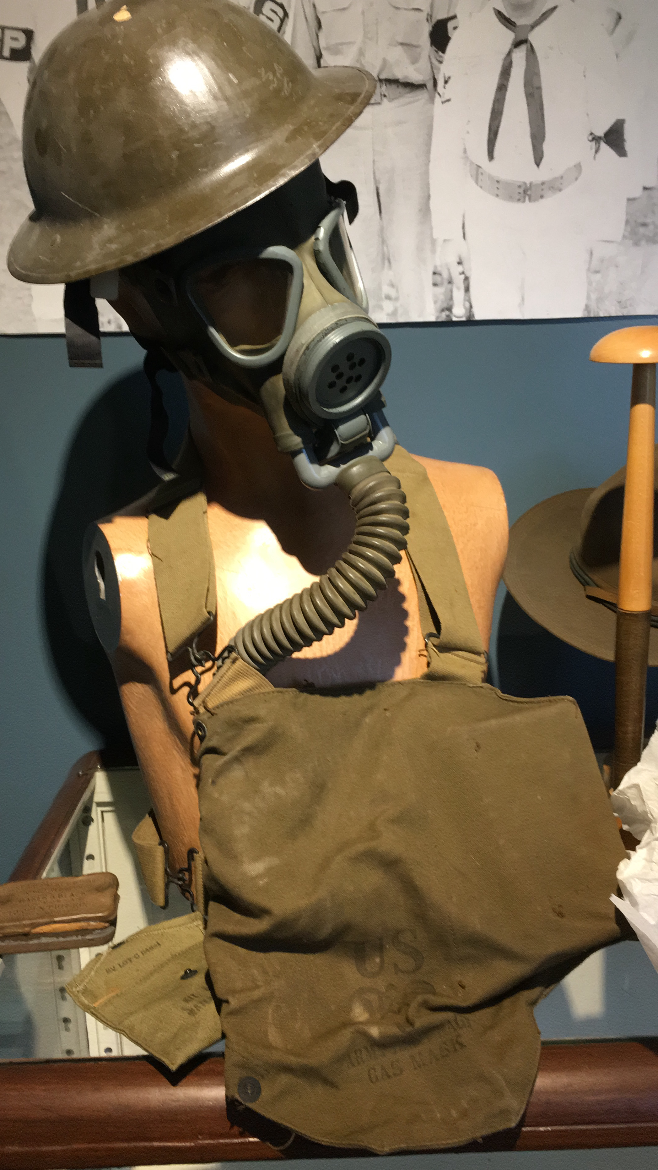 Gas mask used in WWII