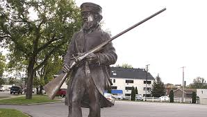 Frather William Gamber led efforts to raise funds to erect the statue.