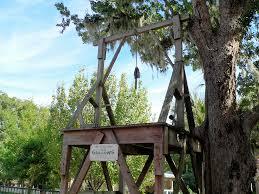 A recreated gallows