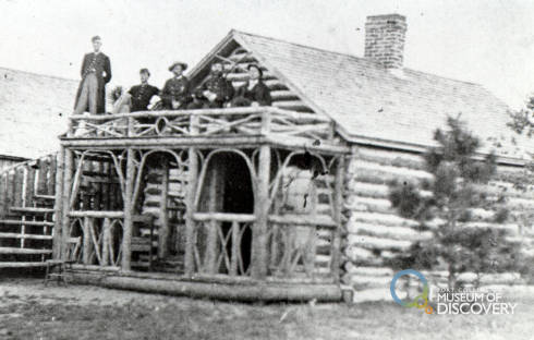 Soldiers at one of the Fort Buildings, around 1865