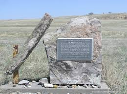 Tall Bull's monument placed by his descendants
