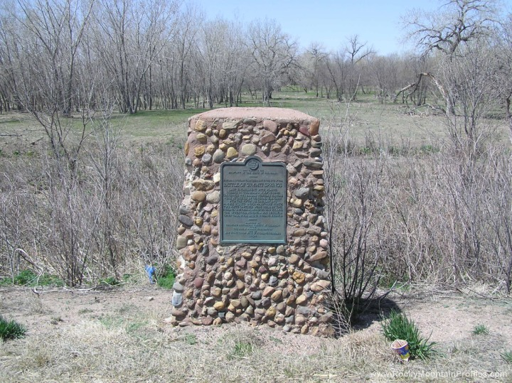 State of Colorado plaque for the Battle of Summit Springs