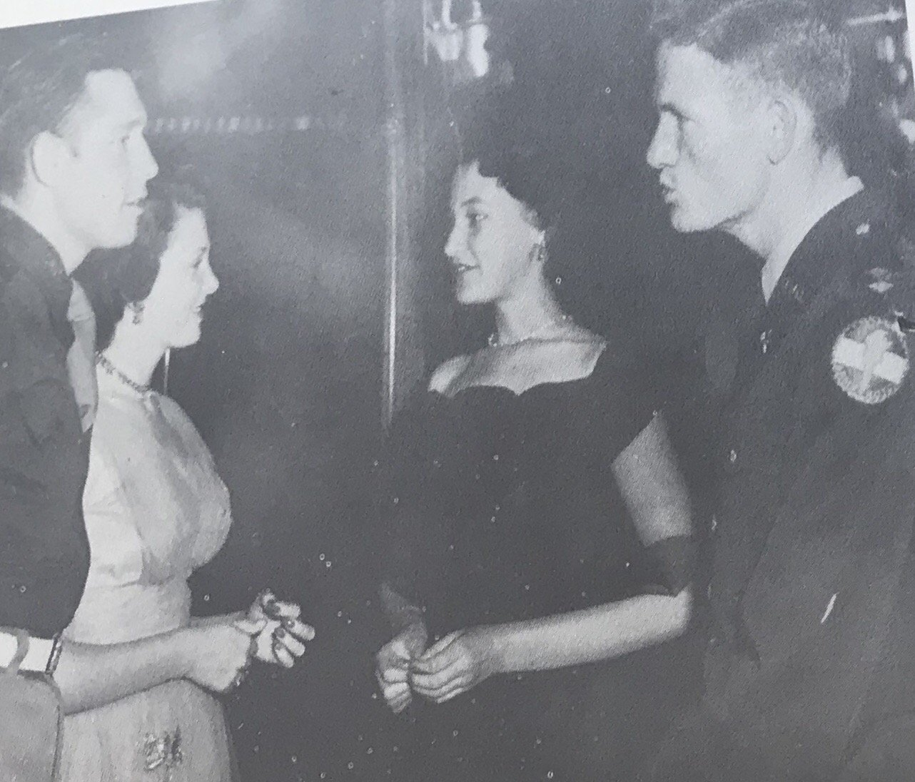 Couple of students at a dance in 1947. 