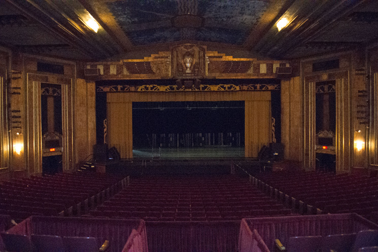 Stage of Paramount Arts Center