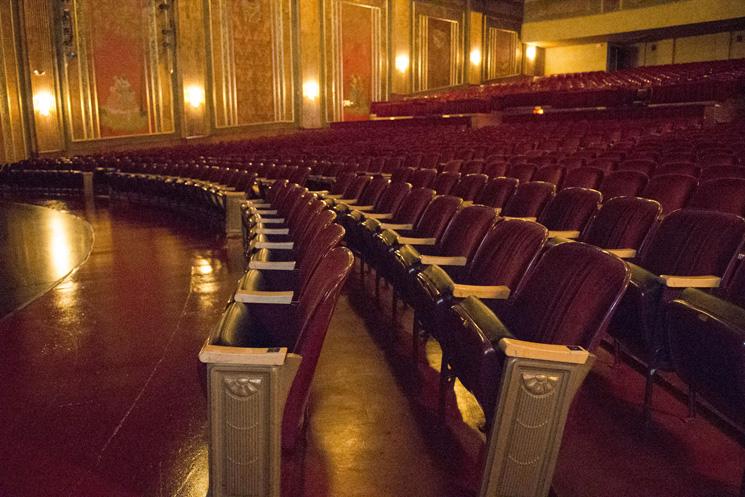 Velvet seats of Paramount Arts Center