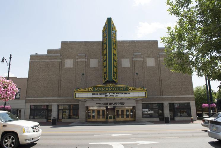 Outside Paramount Arts Center