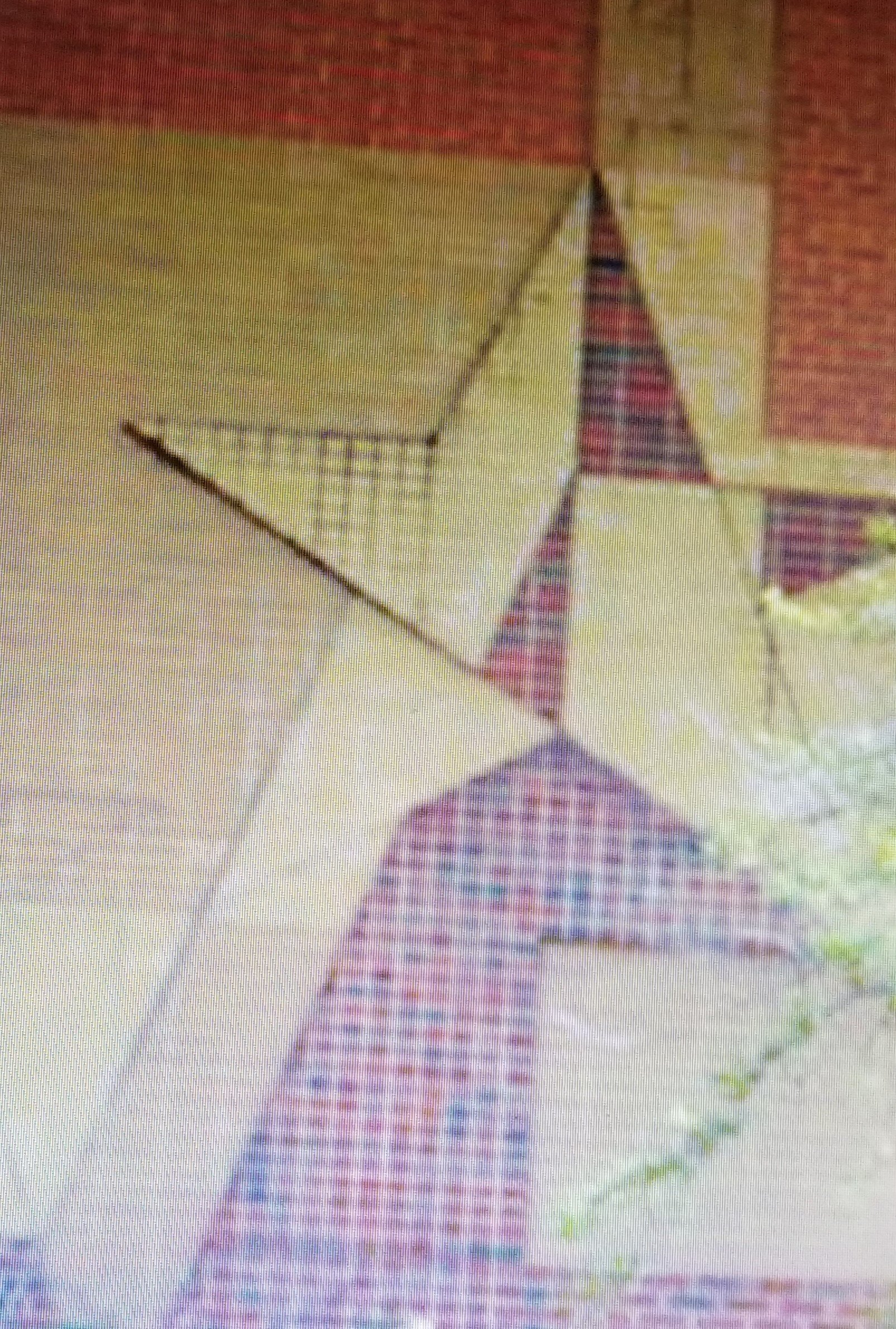 A closeup of the Star Motif wall on the Patio Building.  This helps show that Ms. Spellman was able to create a 3-D look even with brick.