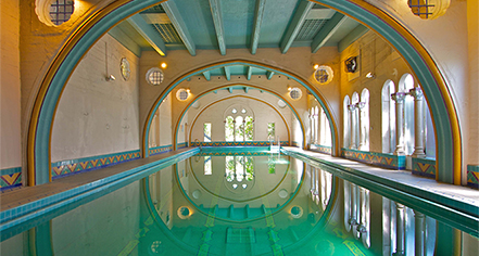 The swimming pool at the Berkeley City Club today