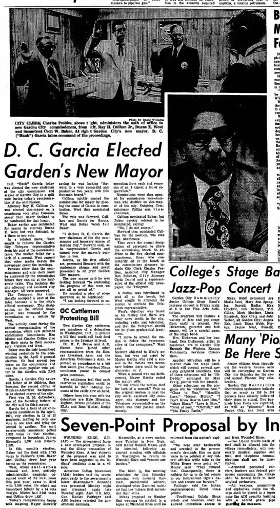 D. C. Garcia Elected Mayor Garden City Telegram