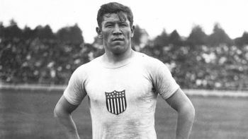 This is Jim Thorpe in the 1912 Olympics where we would go onto win Gold in the Men's Decathlon and Gold in the Men's Pentathlon.