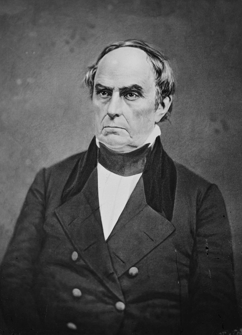 US Secretary of State Daniel Webster, circa 1841
