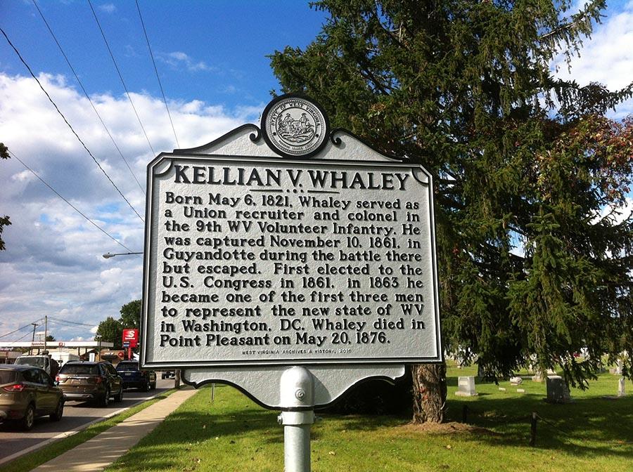 Kellian V. Whaley Highway Historical Marker
