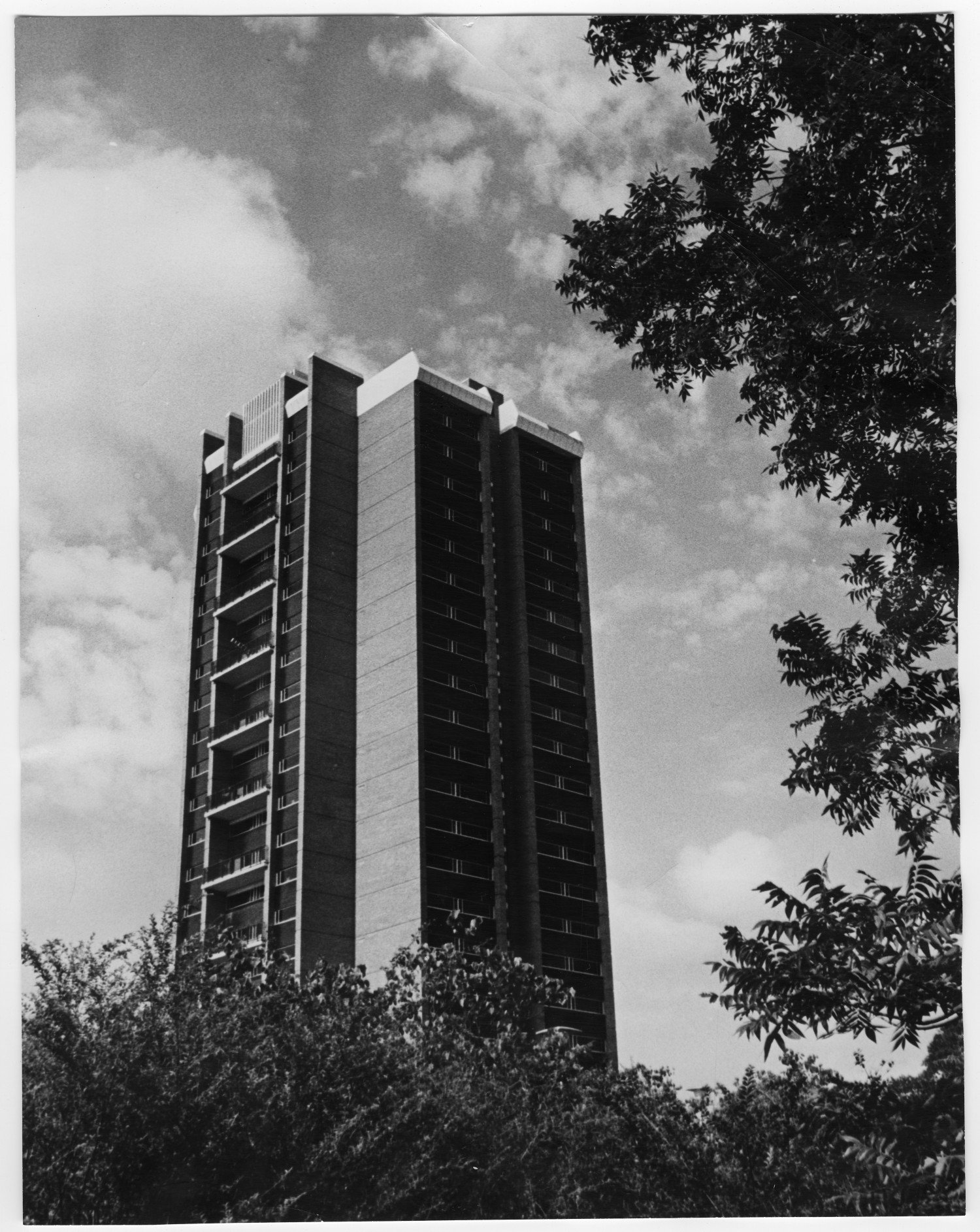 Stark Hall in 1967. Courtesy of University of North Texas Libraries and Denton Public Library.